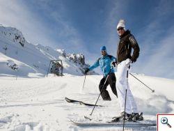Skifahren im Stubai auf den Elferliften